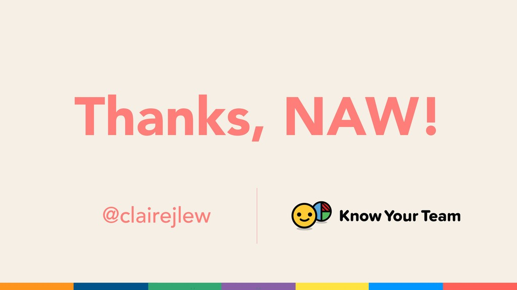 Thanks, NAW! @clairejlew