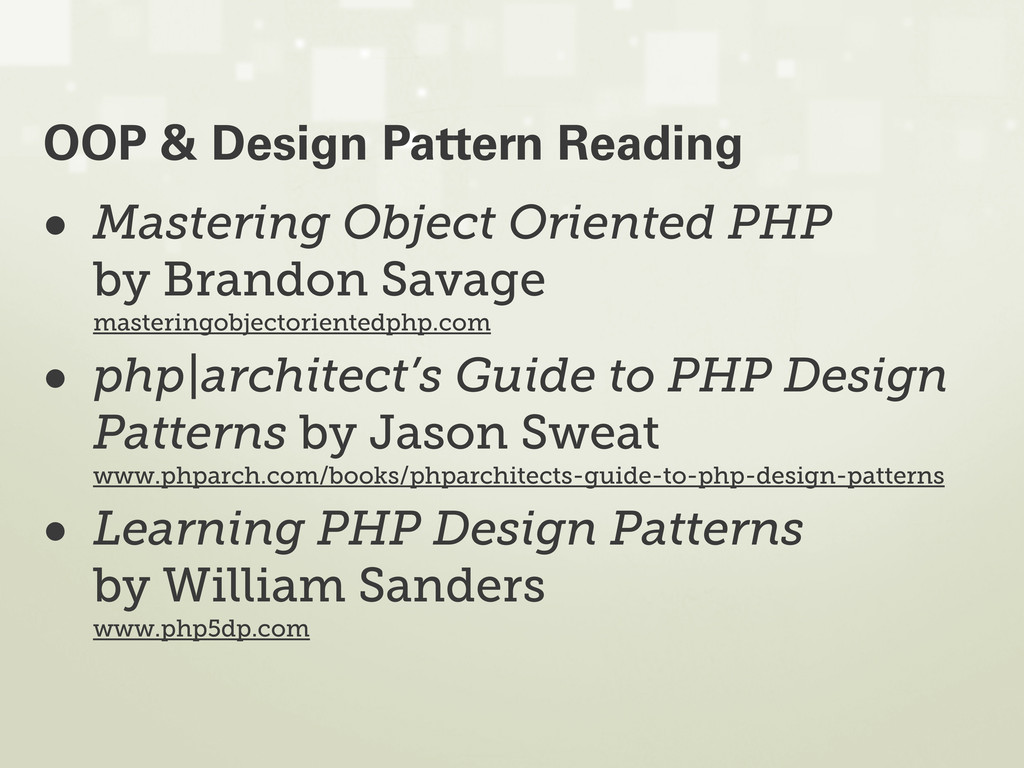• Mastering Object Oriented PHP by Brandon Sava...