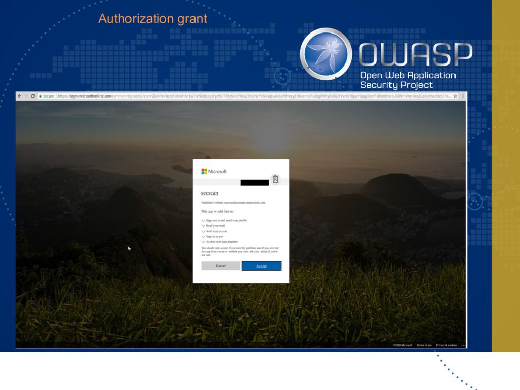 Authorization grant