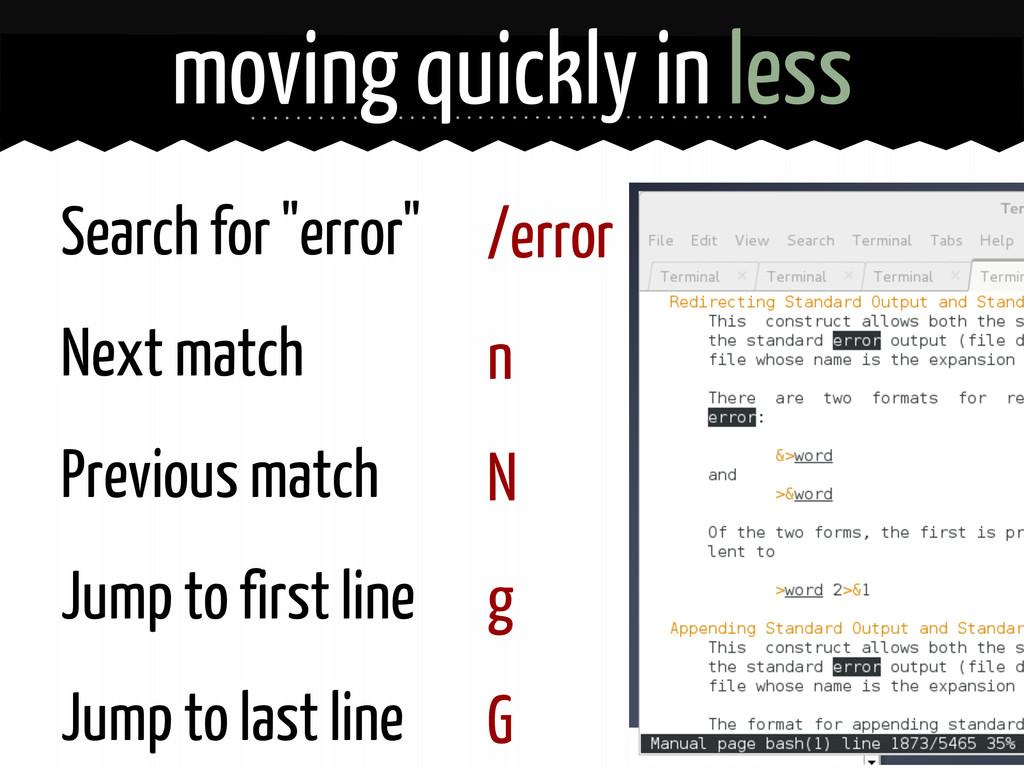 """/error n N g G Search for """"error"""" Next match Pr..."""