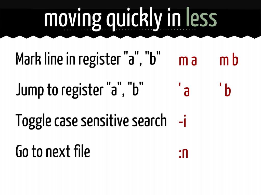 """m a ' a -i :n Mark line in register """"a"""", """"b"""" Ju..."""