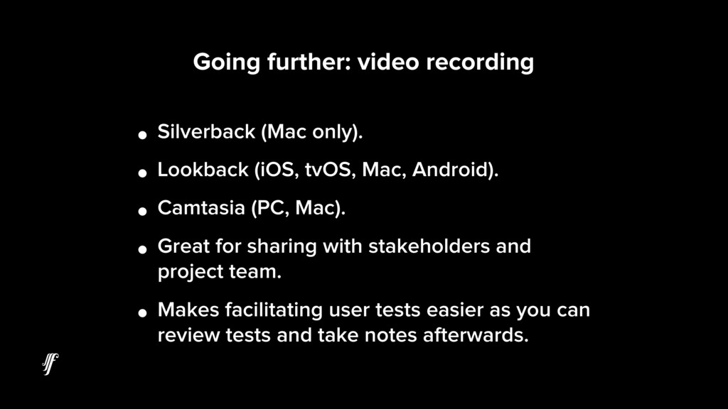 Going further: video recording • Silverback (Ma...
