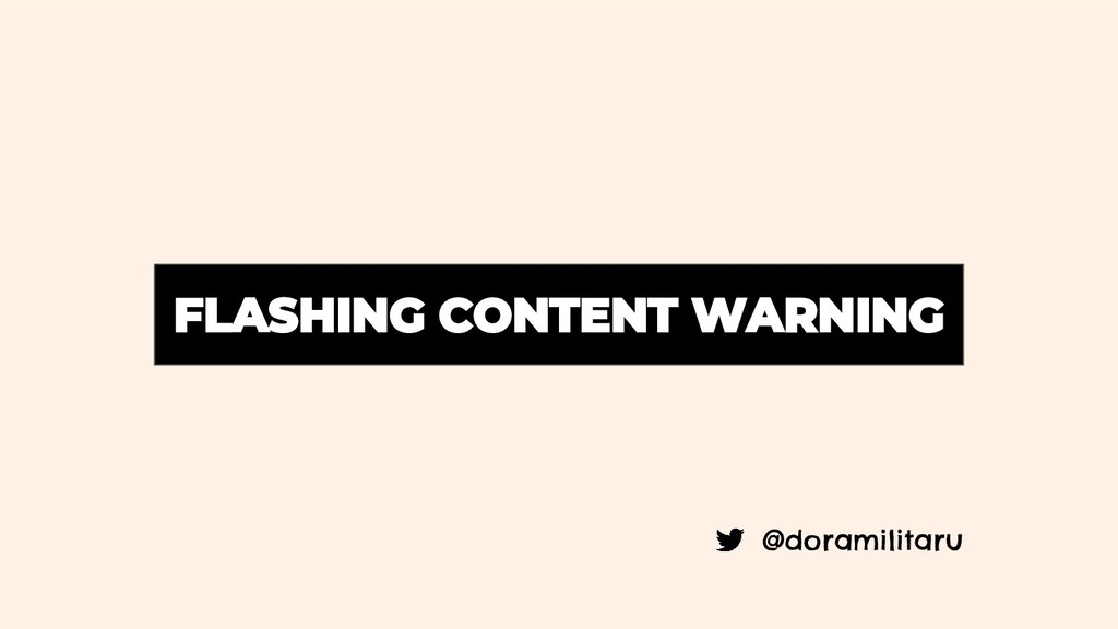 @doramilitaru FLASHING CONTENT WARNING