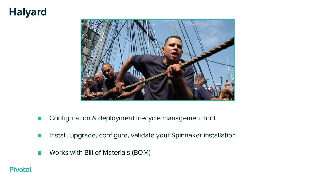 Halyard ■ Configuration & deployment lifecycle m...