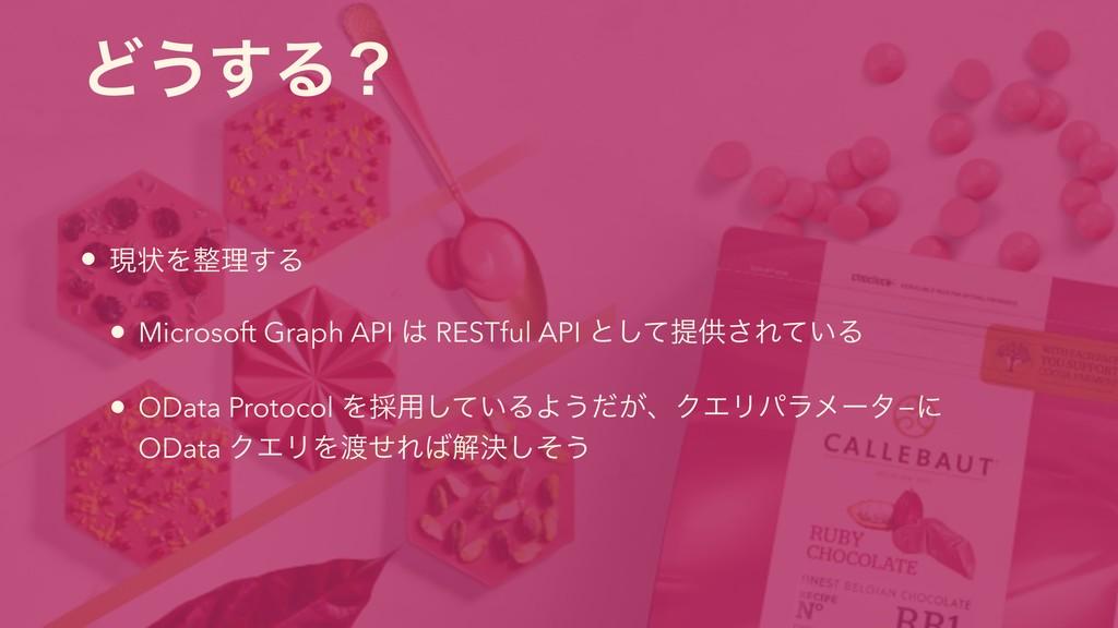 Ͳ͏͢Δʁ • ݱঢ়Λཧ͢Δ • Microsoft Graph API  RESTful...