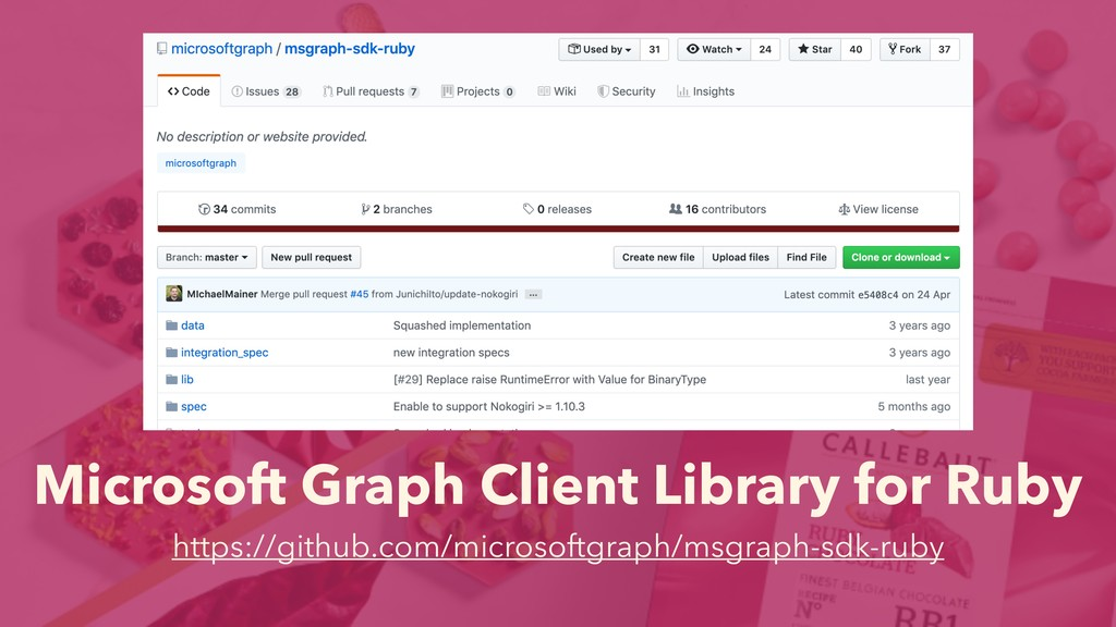 Microsoft Graph Client Library for Ruby https:/...