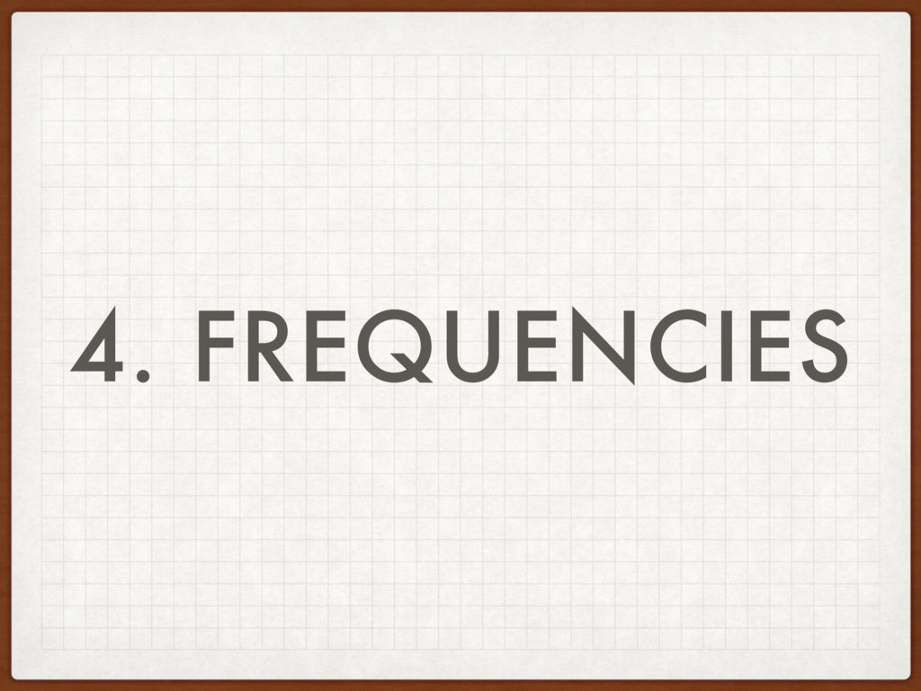 4. FREQUENCIES
