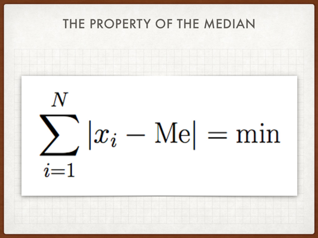 THE PROPERTY OF THE MEDIAN
