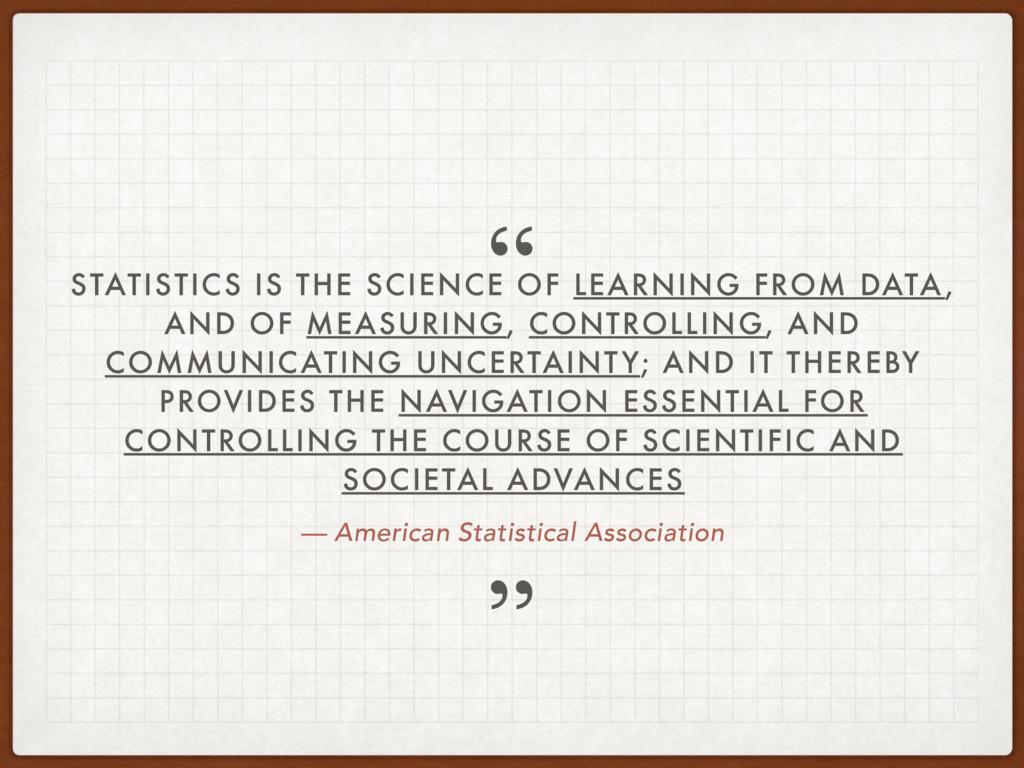 — American Statistical Association STATISTICS I...