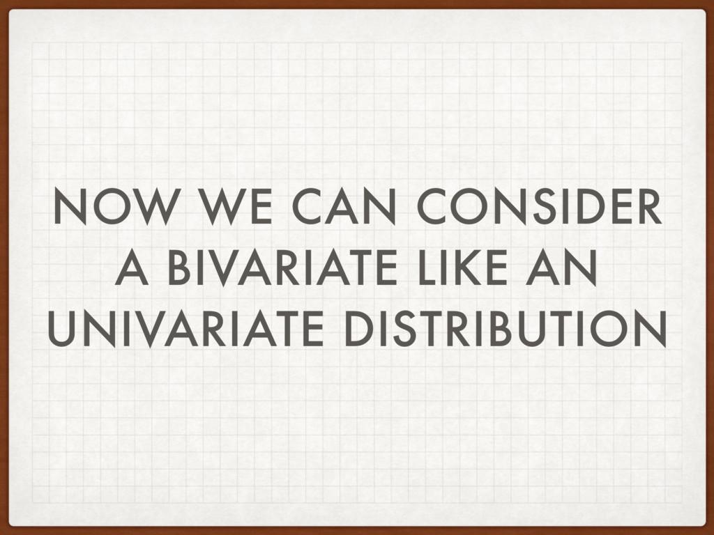 NOW WE CAN CONSIDER A BIVARIATE LIKE AN UNIVARI...