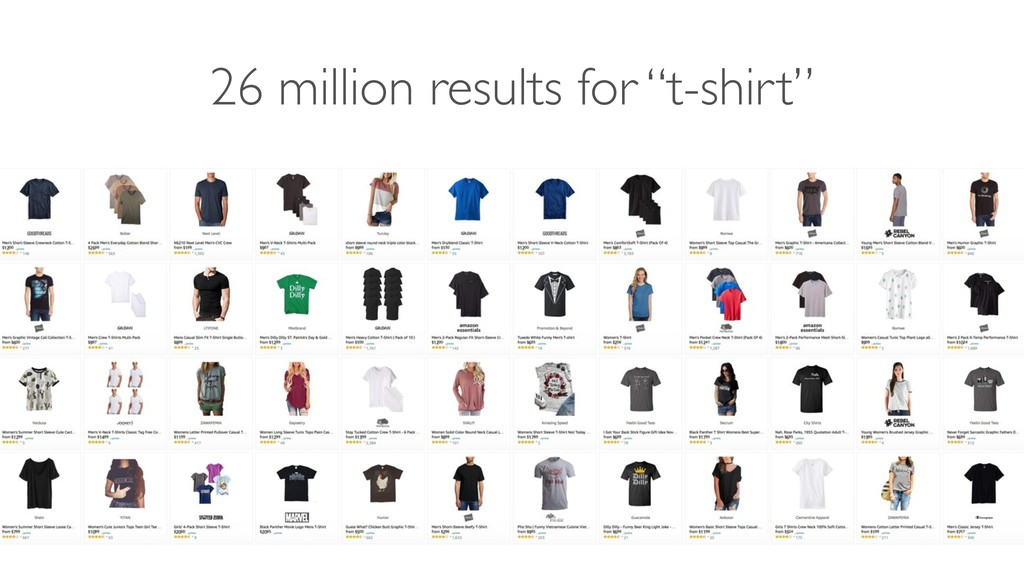 """26 million results for """"t-shirt"""""""