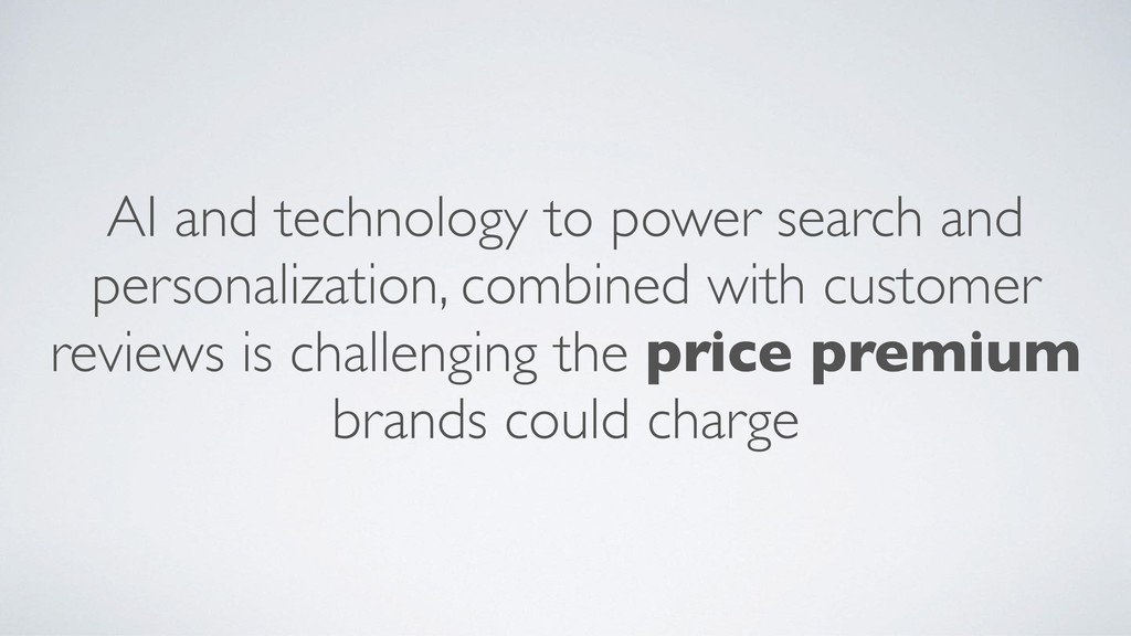 AI and technology to power search and personali...