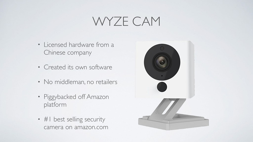 WYZE CAM • Licensed hardware from a Chinese com...