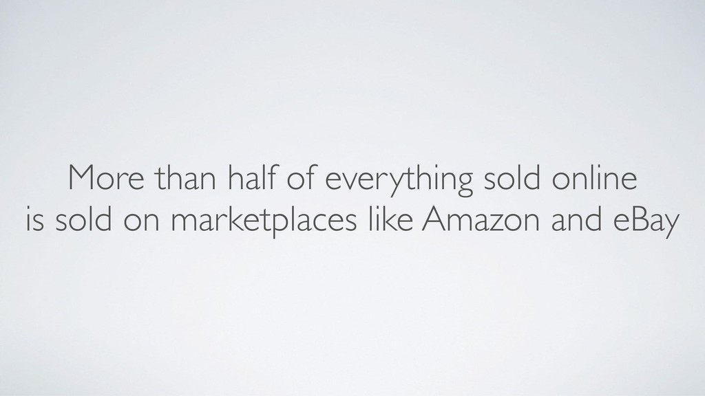 More than half of everything sold online is sol...