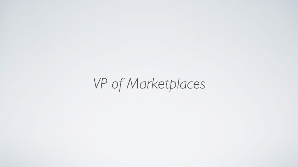 VP of Marketplaces