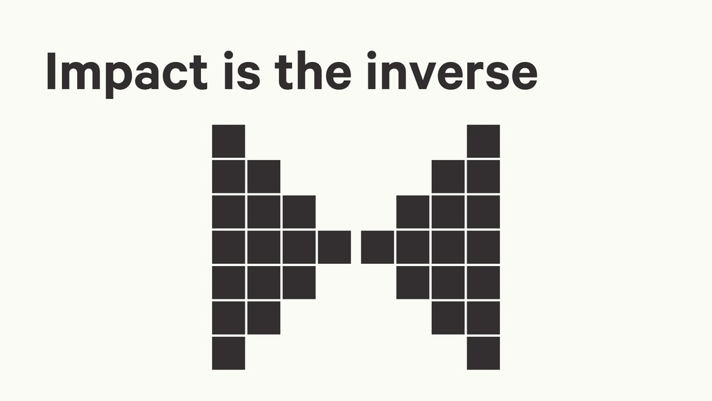 Impact is the inverse