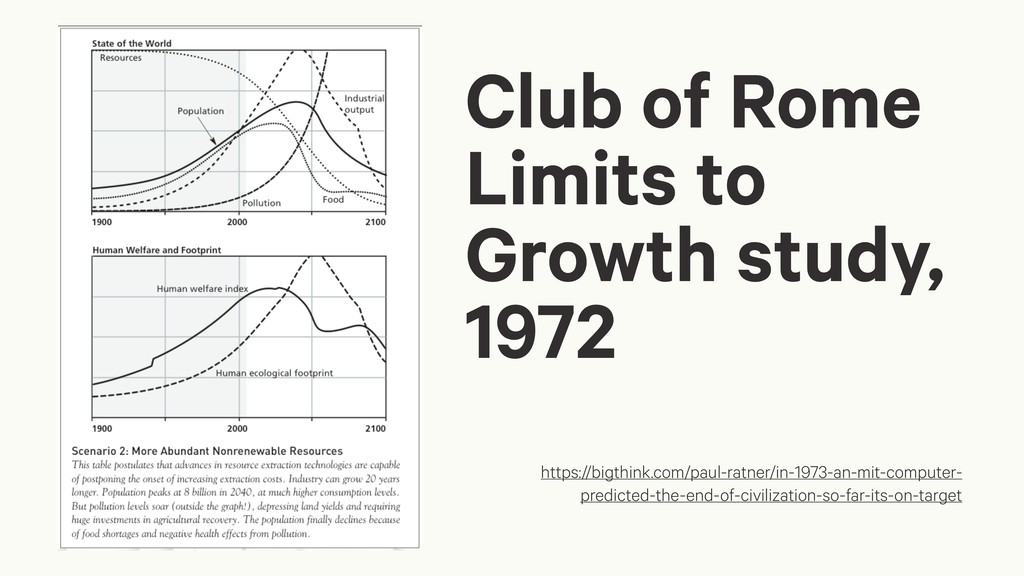 Club of Rome Limits to Growth study, 1972 https...