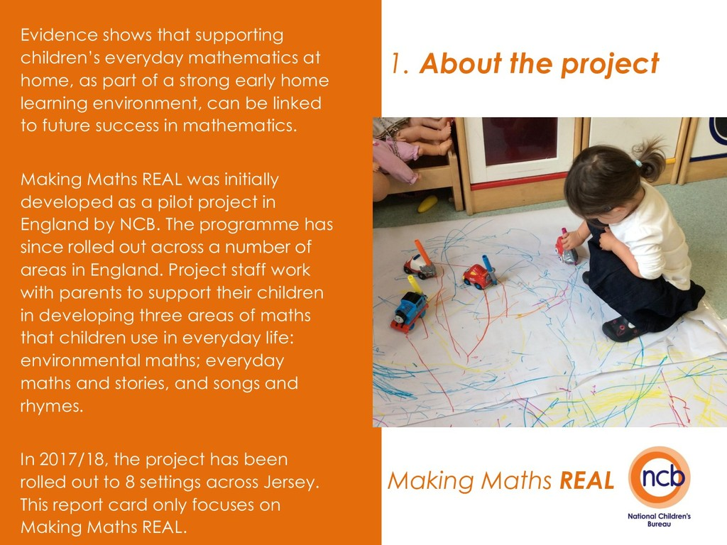 1. About the project Making Maths REAL Evidence...