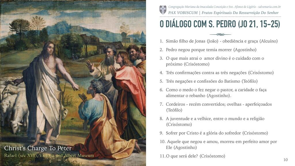 O DIÁLOGO COM S. PEDRO (JO 21, 15-25) 1. Simão ...