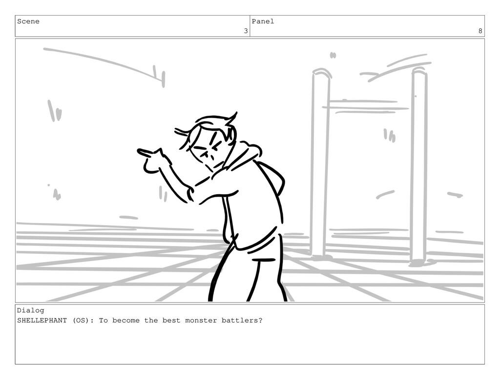 Scene 3 Panel 8 Dialog SHELLEPHANT (OS): To bec...