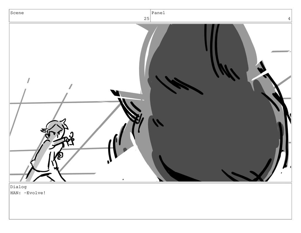 Scene 25 Panel 4 Dialog HAN: -Evolve!