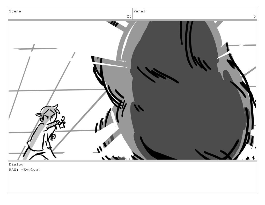 Scene 25 Panel 5 Dialog HAN: -Evolve!
