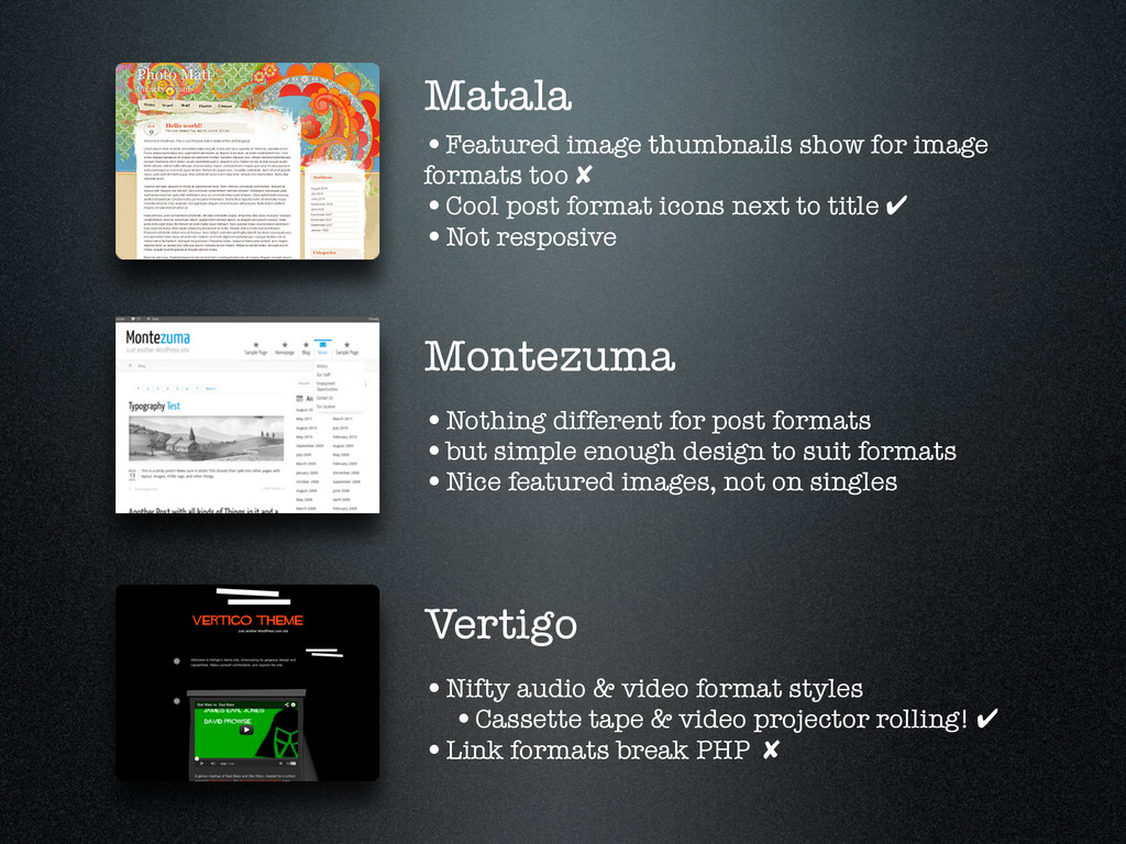 Matala •Featured image thumbnails show for imag...