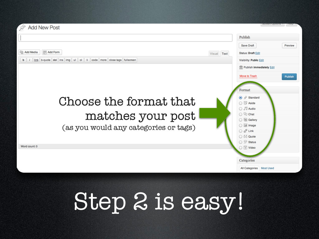 Step 2 is easy! Choose the format that matches ...