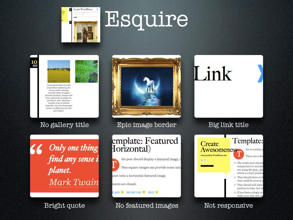 Esquire No gallery title Epic image border Big ...