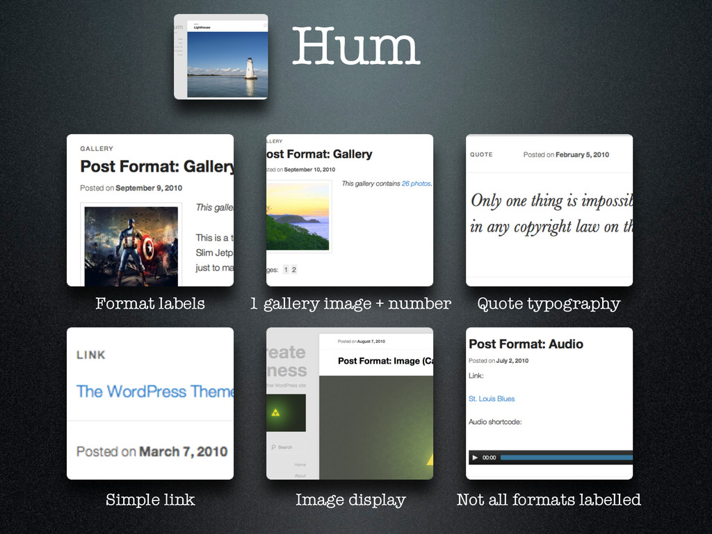 Hum Format labels 1 gallery image + number Quot...