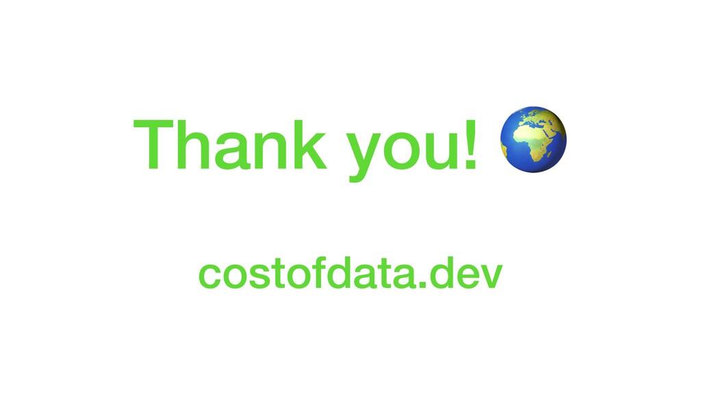 Thank you!  costofdata.dev