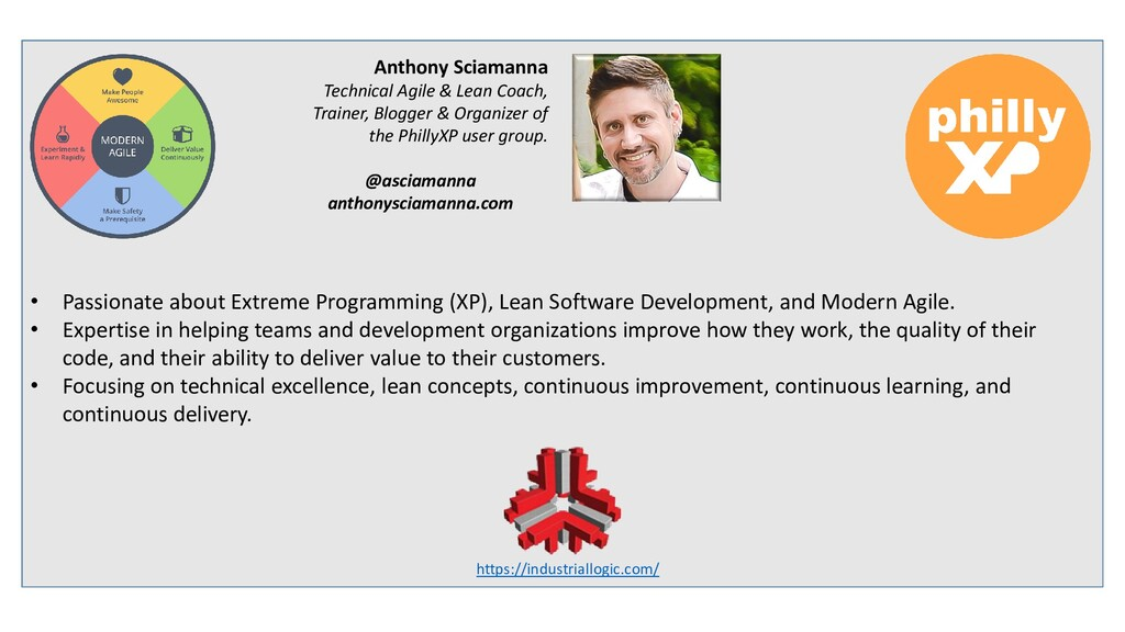 • Passionate about Extreme Programming (XP), Le...