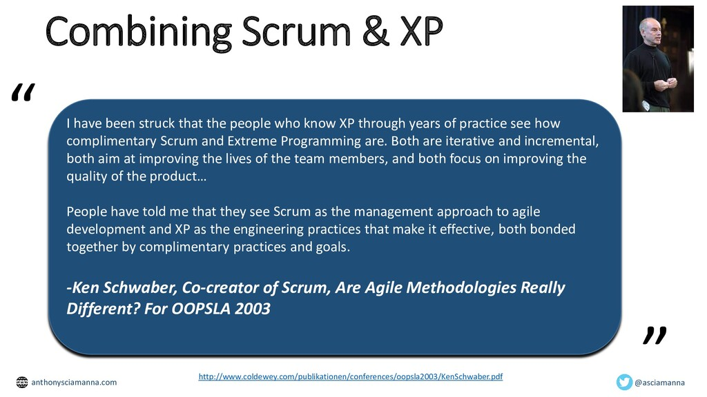 Combining Scrum & XP I have been struck that th...