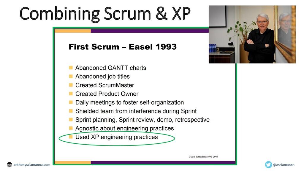 Combining Scrum & XP @asciamanna anthonysciaman...