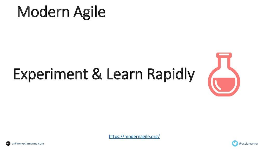 Experiment & Learn Rapidly https://modernagile....