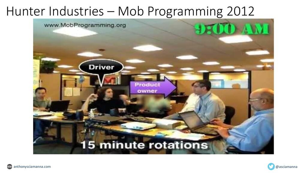 Hunter Industries – Mob Programming 2012 @ascia...