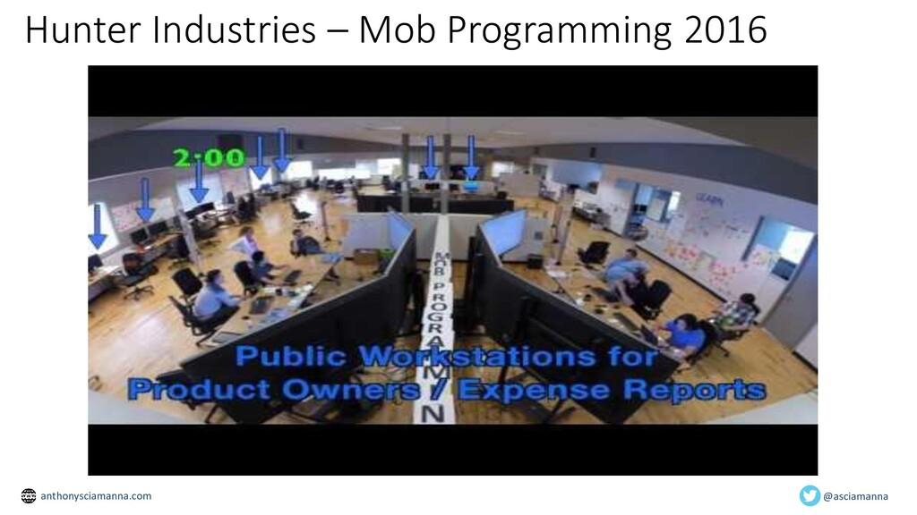 Hunter Industries – Mob Programming 2016 @ascia...