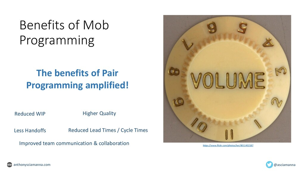 Benefits of Mob Programming https://www.flickr....