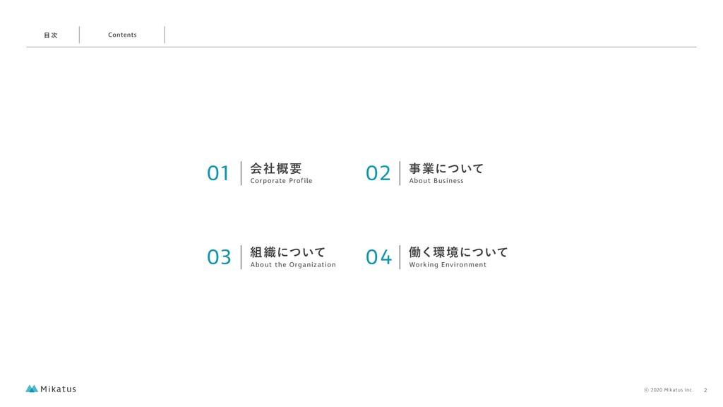 01 ձࣾ֓ཁ Corporate Profile 02 ۀʹ͍ͭͯ About Busin...