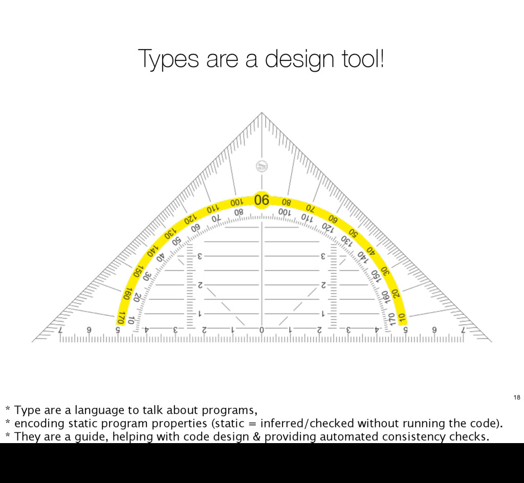 Types are a design tool! 18 * Type are a langua...