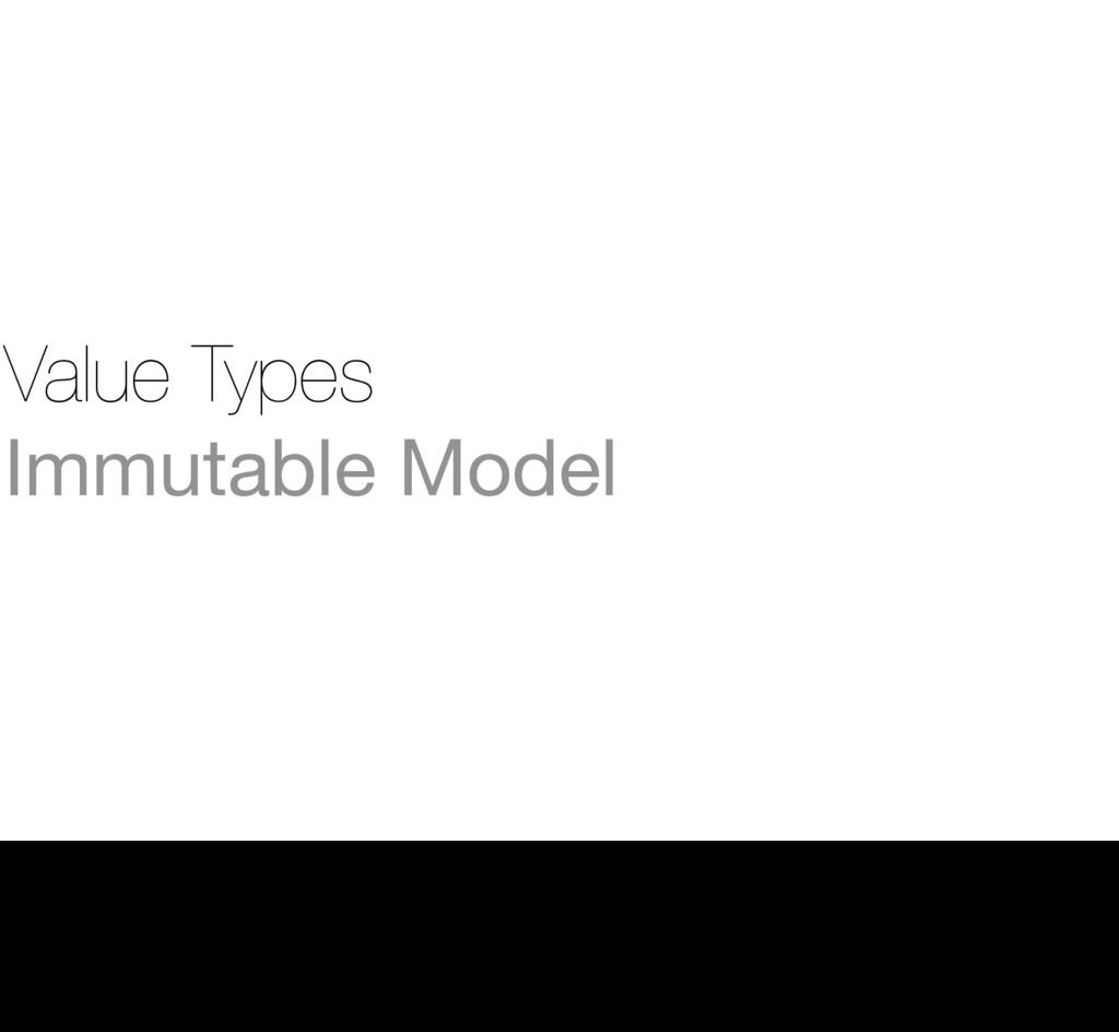 Value Types Immutable Model 27 » We start by im...
