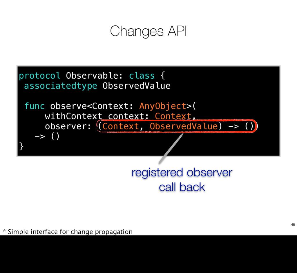 Changes API protocol Observable: class { associ...