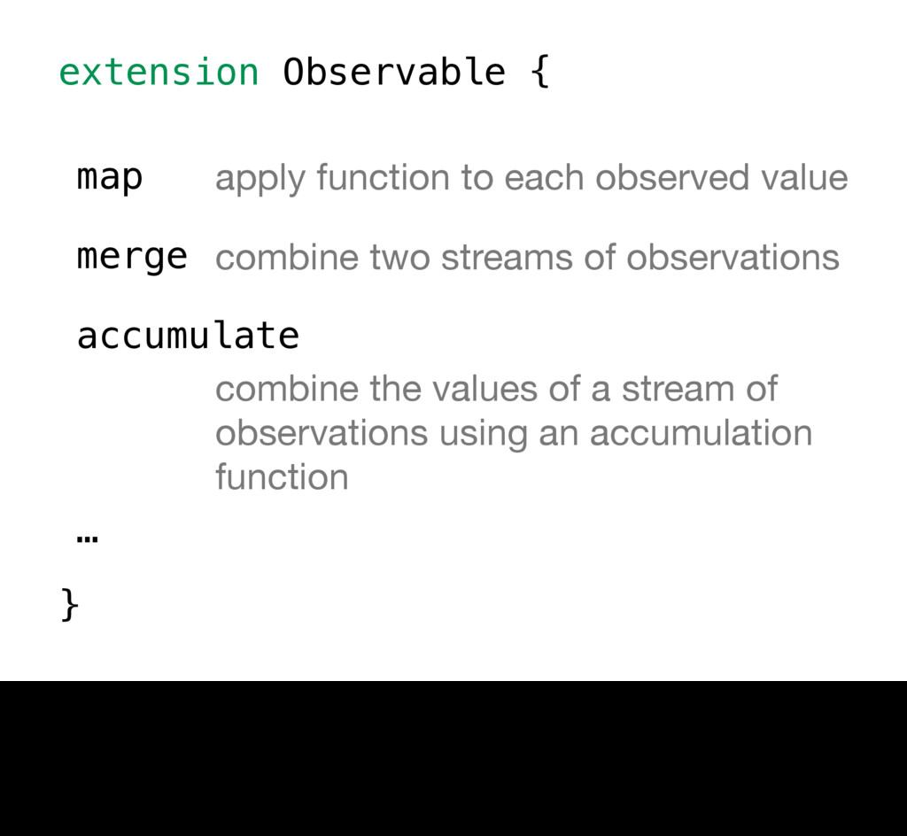 extension Observable { } map apply function to ...
