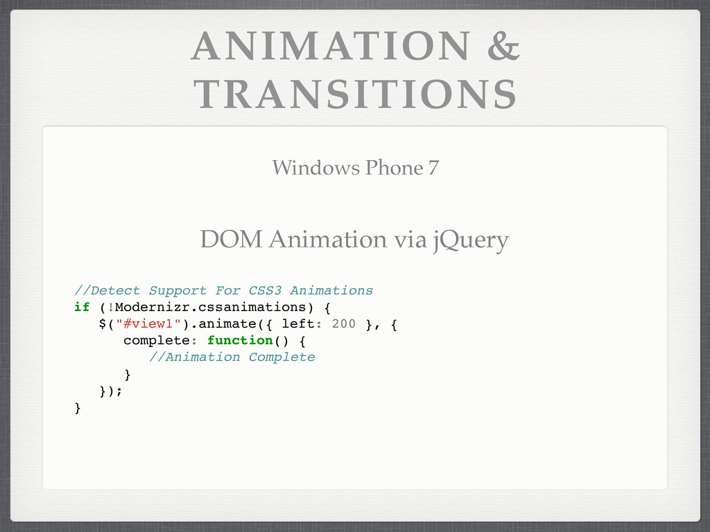 ANIMATION & TRANSITIONS Windows Phone 7 //Detec...