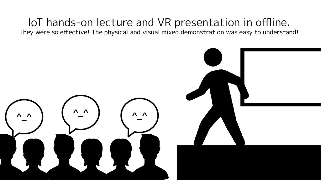 IoT hands-on lecture and VR presentation in offli...