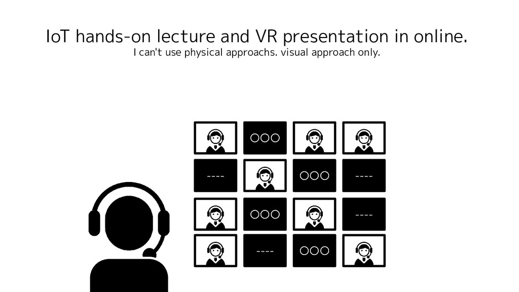 IoT hands-on lecture and VR presentation in onl...