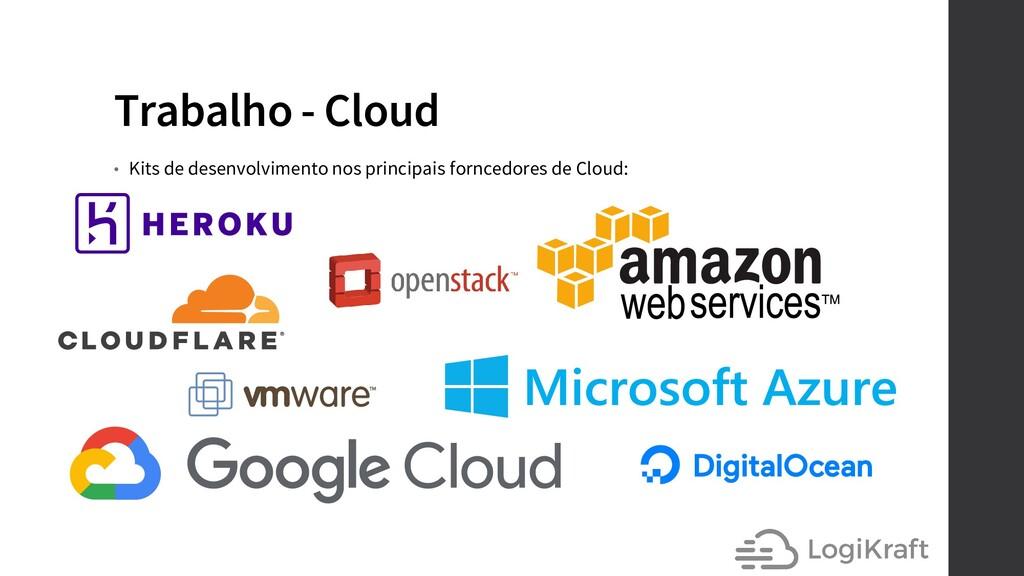 Trabalho - Cloud • Kits de desenvolvimento nos ...