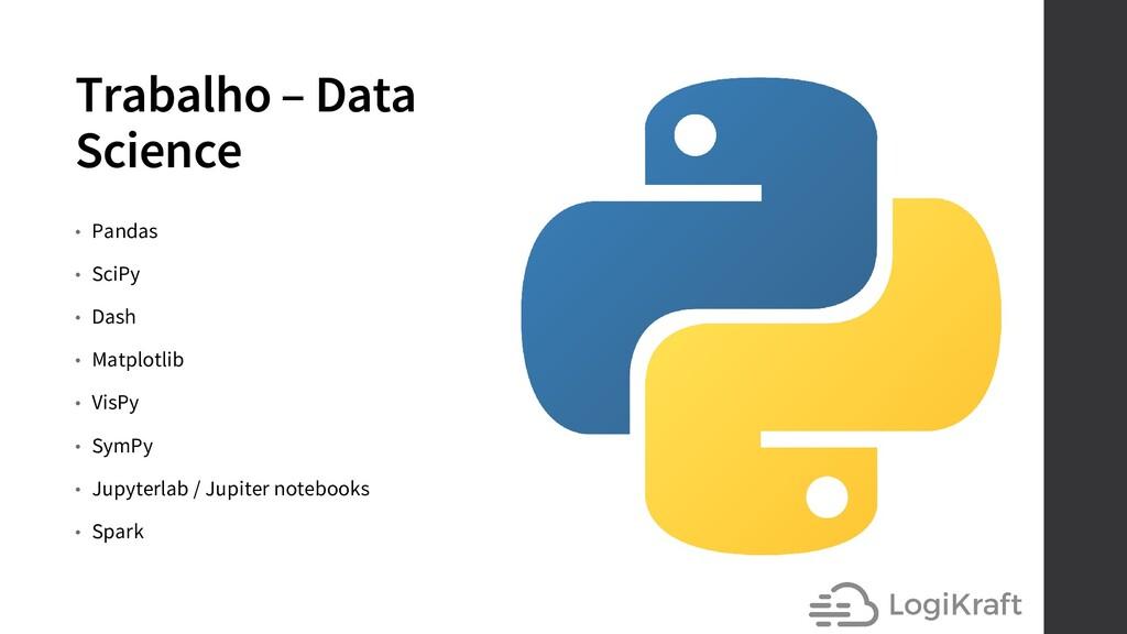 Trabalho – Data Science • Pandas • SciPy • Dash...
