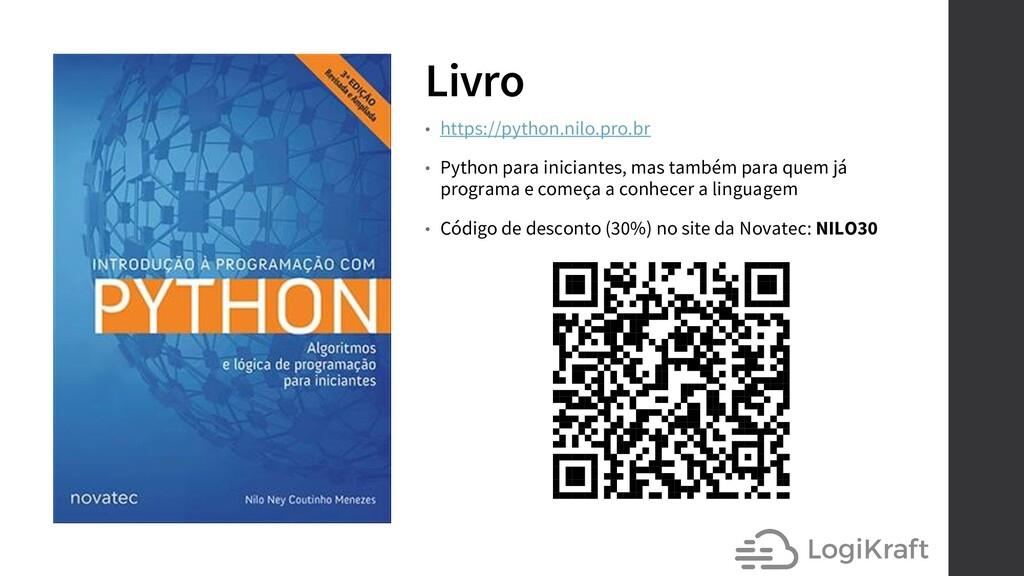 Livro • https://python.nilo.pro.br • Python par...