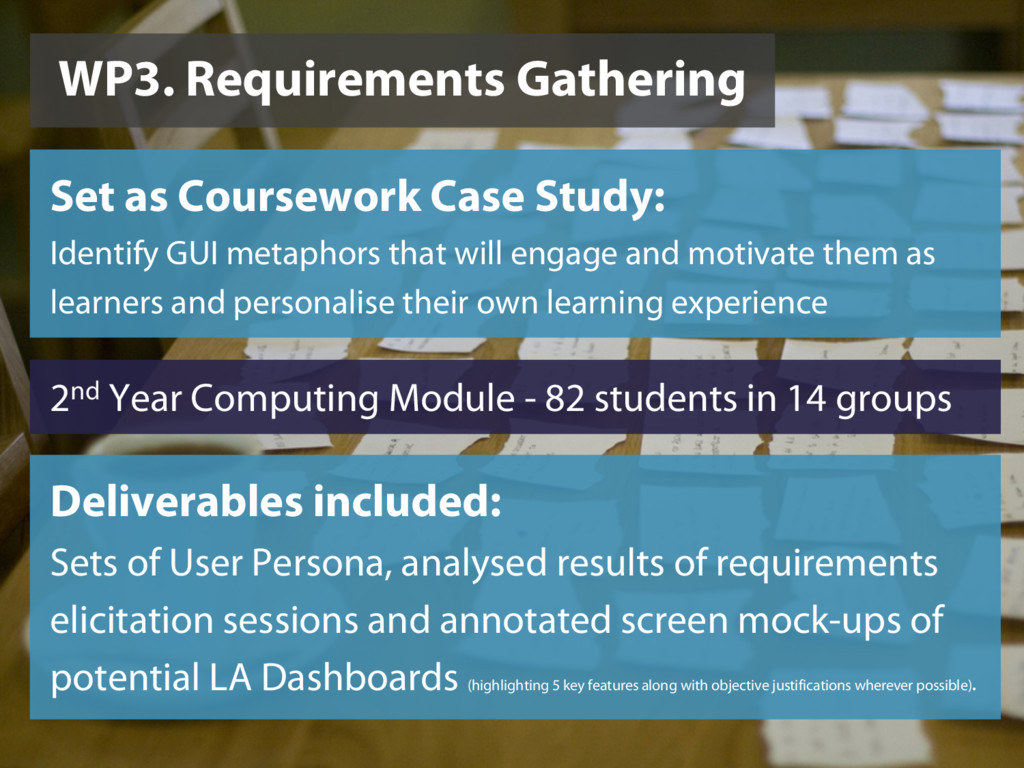 WP3. Requirements Gathering Set as Coursework C...